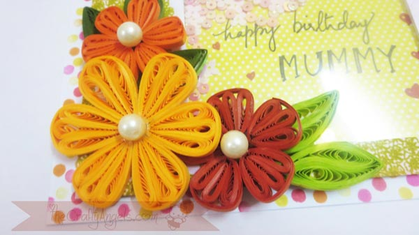 Tight quilled flower and card tutorial
