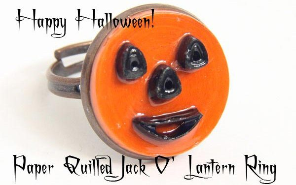 How to Make a Paper Quilled Jack O' Lantern Ring