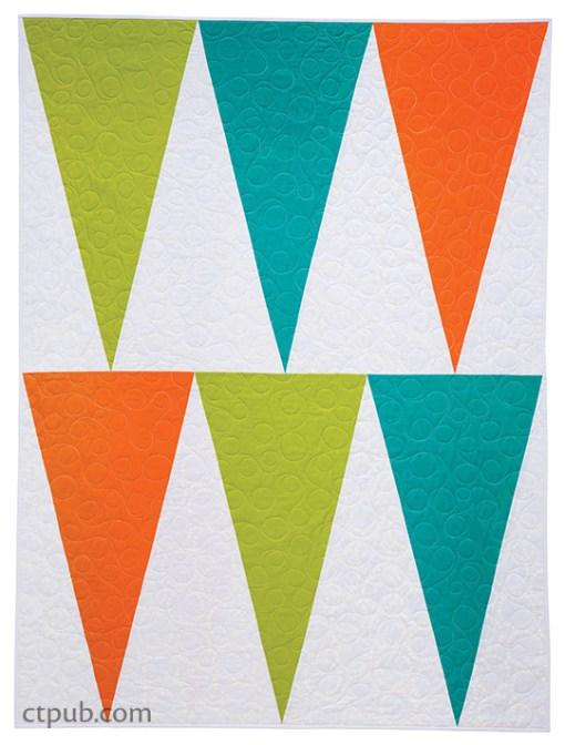Modern Banner Shape Quilt Pattern