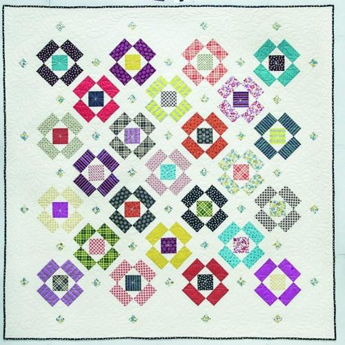 Block Flower Quilt Pattern