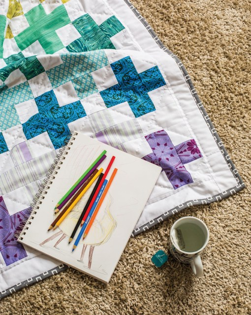 Modern Cross Quilt Pattern