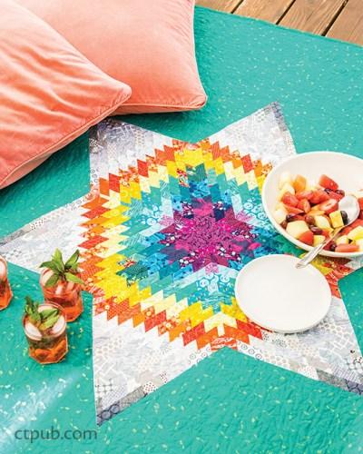 70's Rainbow Star Quilt Pattern