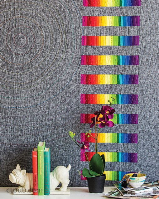 Modern Rainbow Spiral Quilt Pattern