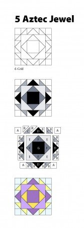 New Quick & Easy Block Tool: 5 Aztec Jewel Pattern