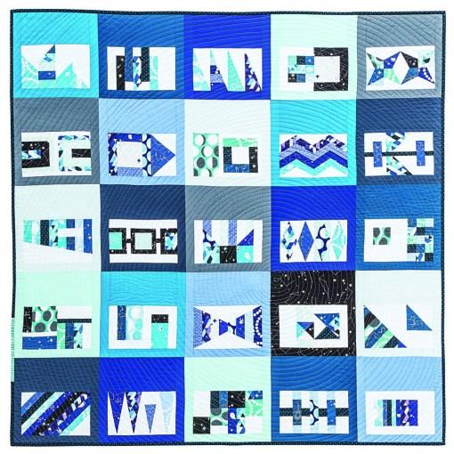 Blue Ice Patchwork Quilt Pattern
