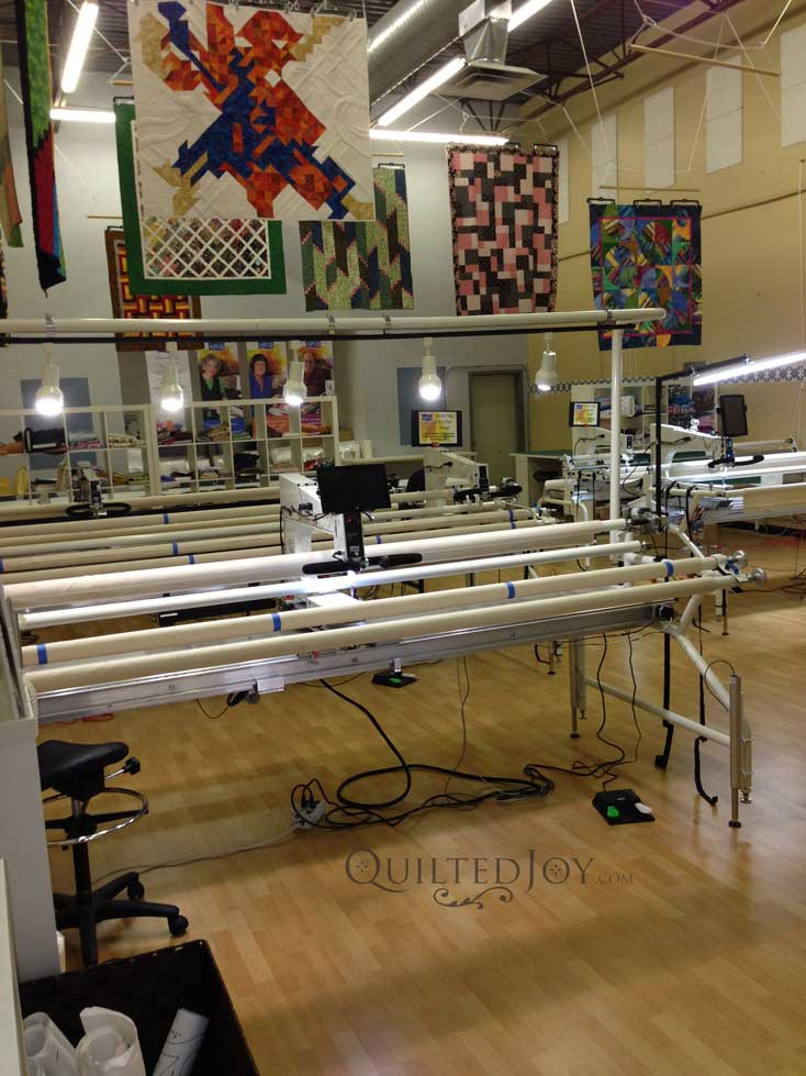 Quilted Joy Apqs Longarm Quilting Machine Showroom