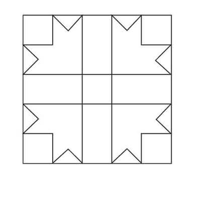 Cross and Crowns Block Outline