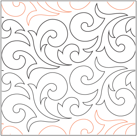 """Lorien's Phoenix paper pantograph, 7.75"""" tall. Designed by Hermione Agee. Available at QuiltedJoy.com"""