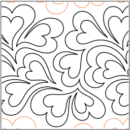 "Whole Lotta Love paper pantograph, 11.75"" tall. Designed by Patricia E. Ritter. Available at QuiltedJoy.com"