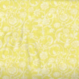 Dense tone on tone floral and vine pattern in yellow. Available at QuiltedJoy.com