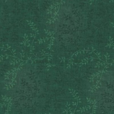 """Tonal Vineyard in Dark Green is a 108"""" wide quilt backing fabric featuring an all over leafy vine pattern. Available at QuiltedJoy.com"""