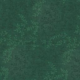 "Tonal Vineyard in Dark Green is a 108"" wide quilt backing fabric featuring an all over leafy vine pattern. Available at QuiltedJoy.com"