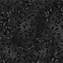 "Climbing Vines in Black is a tonal fabric with a lovely vine print in browns. 108"" wide backing fabric, 100% cotton. Available at QuiltedJoy.com"