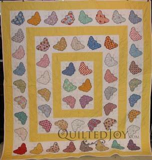 Lorena's Wandering Butterfly Applique Quilt Featuring 30's Fabric - : butterfly applique quilt - Adamdwight.com