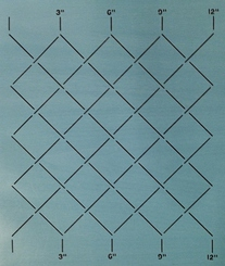 "measured grid stecil 3"""
