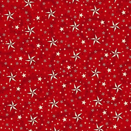 """American Dreams red, 108"""" wide backing fabric"""
