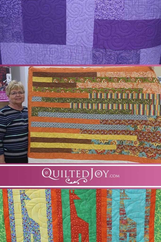 See what our renters have been up to lately! From curvy feathers to continuous spirals, they demonstrate lots of ways to add motion to quilts!