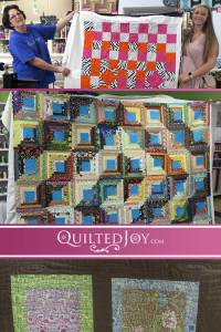 Here are a few more renters with their works of art! Come to Quilted Joy to rent a longarm machine like these quilters have and finish those UFOs!