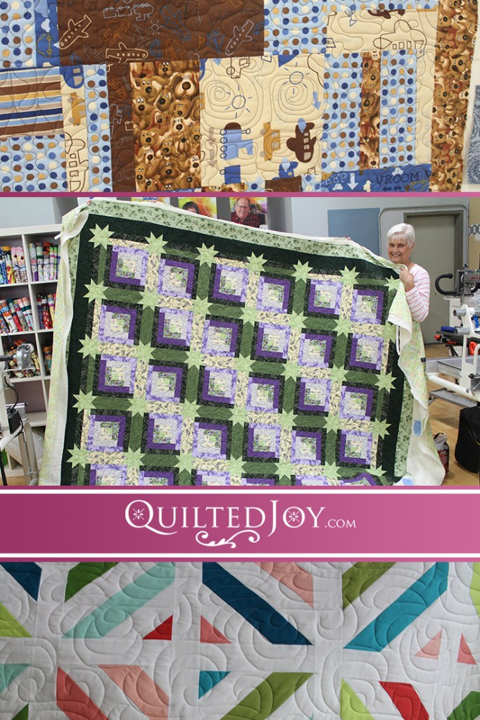 Today's renter update includes quilts made for family members, whether human or furry, as well as contemporary quilts quilted on our APQS longarms!