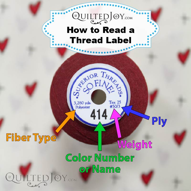 How to Read a Thread Label