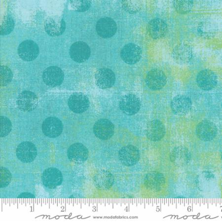 "108"" Grunge Hits the Spot Pool 11131 30. A blue 108"" wide quilt backing fabric, 100% cotton. This fabric would look great on the back of a modern quilt."