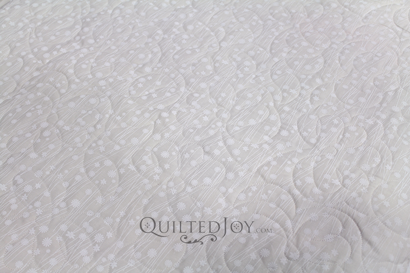 """White/Tint Tone on Tone Floral 108"""" wide fabric for quilt backings"""