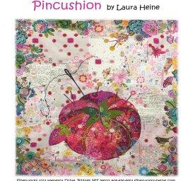 Pincushion Fabric Collage Quilt Pattern by Laura Heine