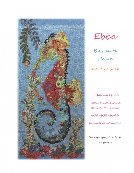 Ebba Seahorse Fabric Collage pattern by Laura Heine