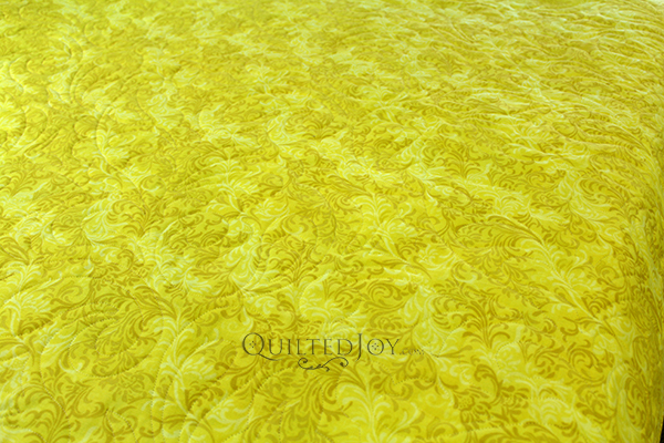 "108"" Flourish Yellow fabric 1056 6608 500"