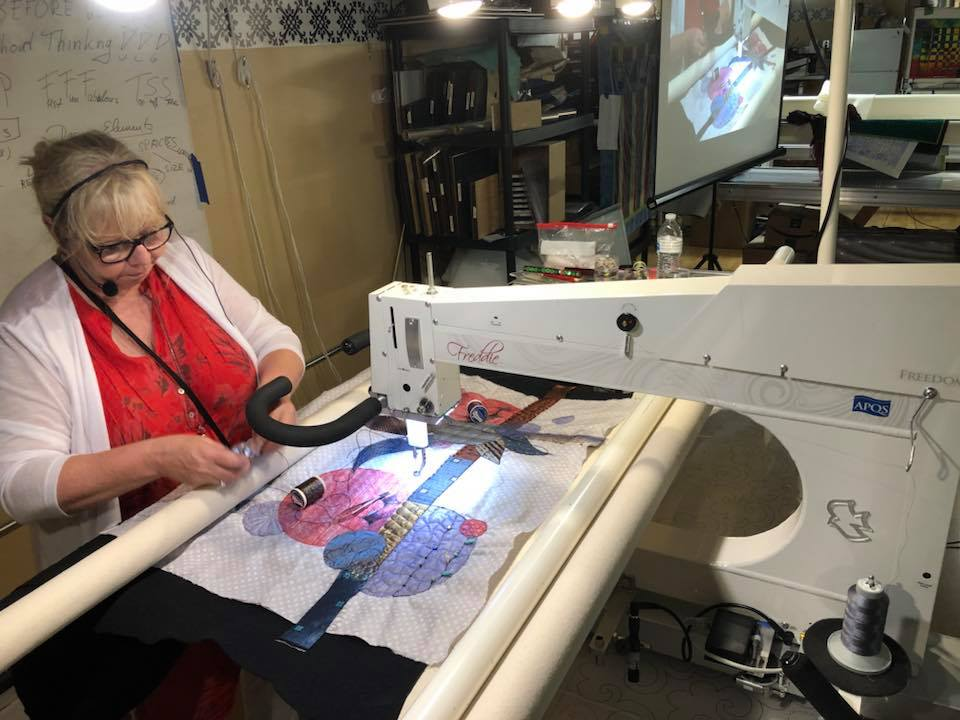 Claudia Pfeil came to visit and teach at Quilted Joy!
