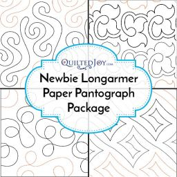 Newbie Longarmer Paper Pantograph Package from QuiltedJoy.com