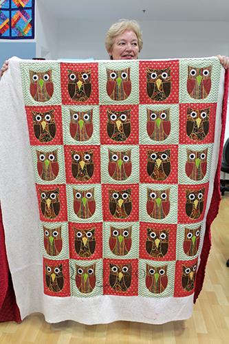 Rebecca's Appliqued Owls quilt