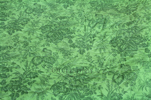 """35482-3 Bouquet Floral 108"""" Green Quilt Backing Fabric"""