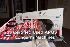 """Certified Used APQS Longarm Machines"" APQS Millie Longarm Machine"