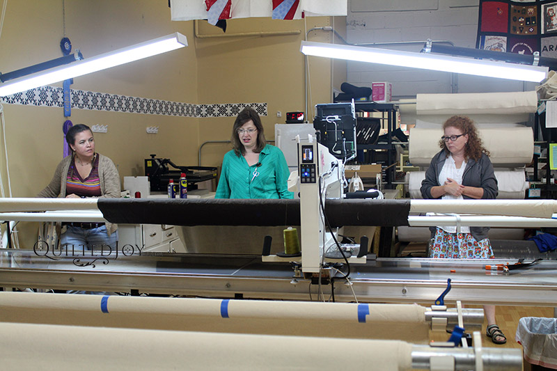 Learn how to use a Longarm Quilting Machine in Quilted Joy's Longarm Quilting Rental Certification Class