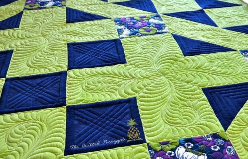 Learn how to quilt feathers in Linda Hrcka's Longarm Quilting Class The World of Feathers