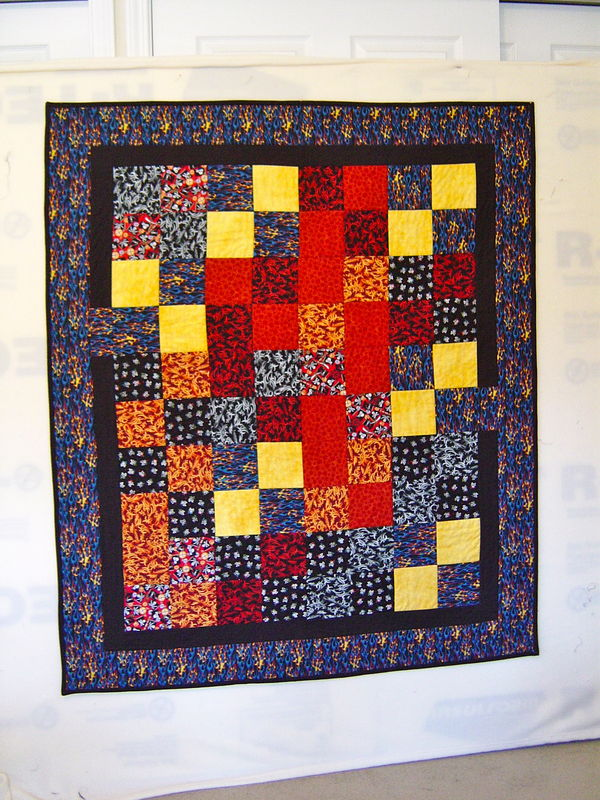 suggestions for young teen boy quilt