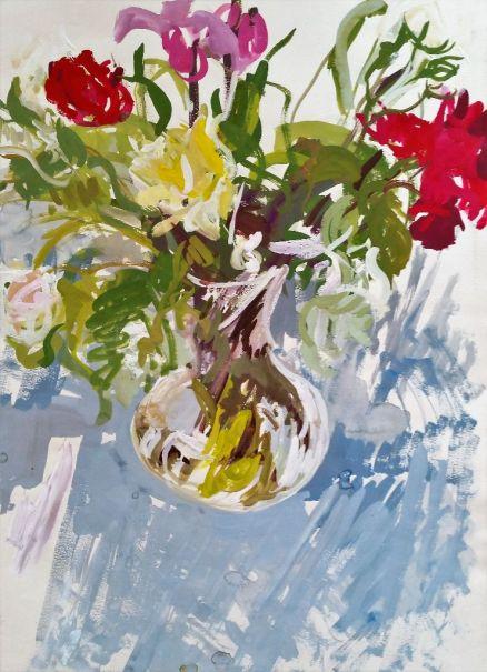 Gouache flower painting