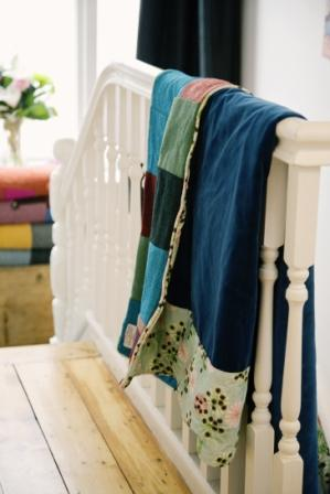 Harris Tweed Brights quilt