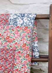 Liberty of London patchwork quilt.
