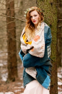 Wrap up warm in a Harris Tweed quilt.