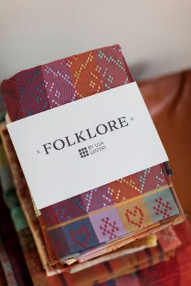Folklore Fabric is an exciting collaboration between myself, as the designer, Richard MR Smith, a master weaver and talented folk at Weisters Mill in Darwen, Lancashire.