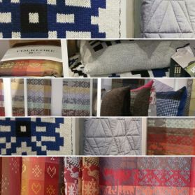 Patterned collage of distinctly British quilts, cushions&more for your home