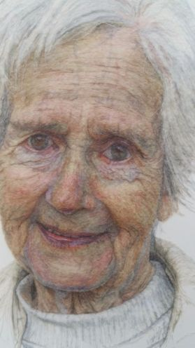 A delightful portrait of this embroiderers mother