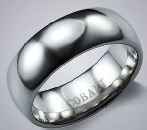 anillo de compromiso cromo-cobalto
