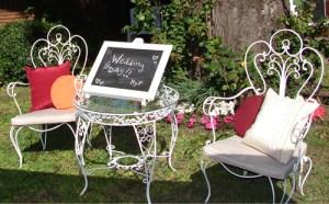 sillas de jardin de hierro
