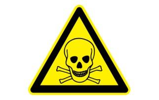 Símbolo tóxico toxicidad peligro
