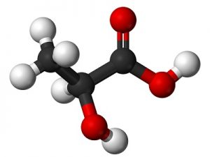 ácido láctico fórmula 3D
