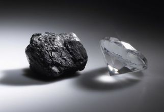 Grafito y diamante carbono puro