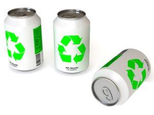 El aluminio es un metal reciclable latas